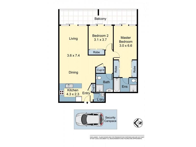 15/7 Crystal Street, Waterloo NSW 2017 Floorplan