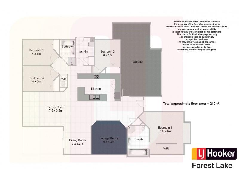 2 Daisy Place, Doolandella QLD 4077 Floorplan