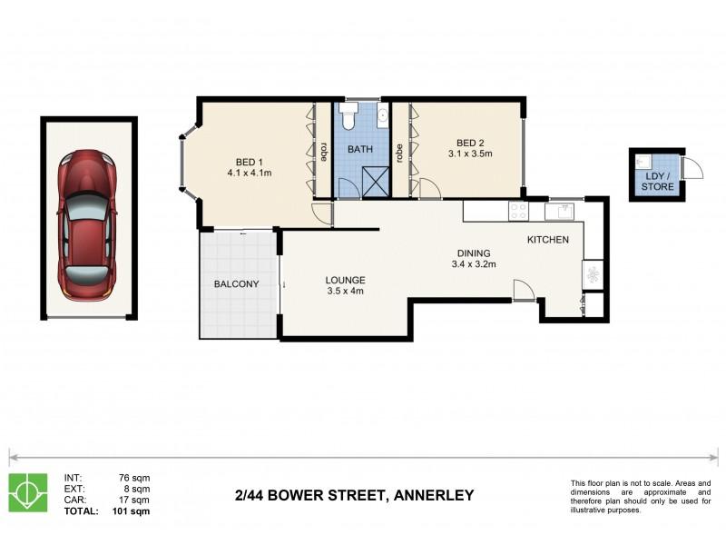 2/44 Bower Street, Annerley QLD 4103 Floorplan