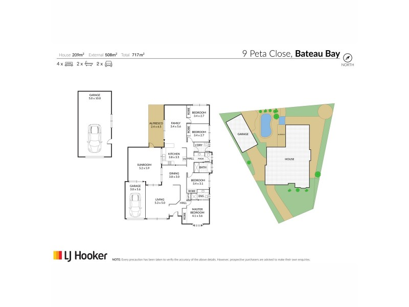 9 Peta Close, Bateau Bay NSW 2261 Floorplan