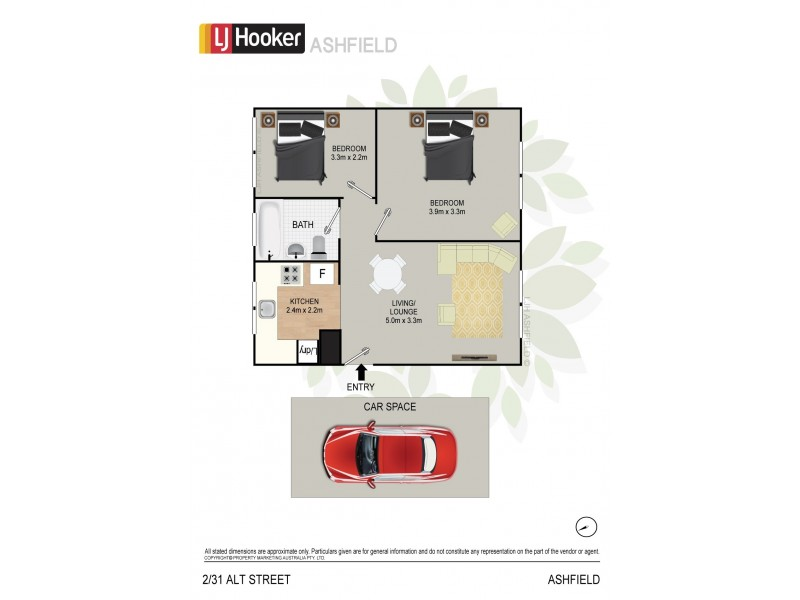 2/31 Alt Street, Ashfield NSW 2131 Floorplan