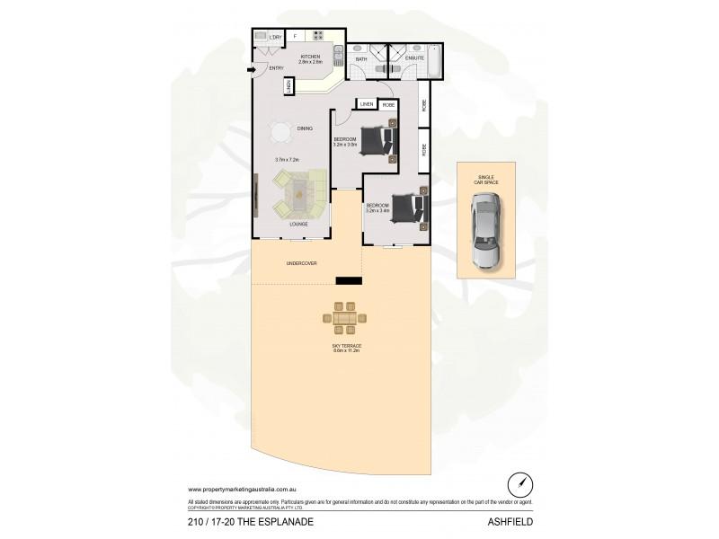 210/17-20 The Esplanade, Ashfield NSW 2131 Floorplan
