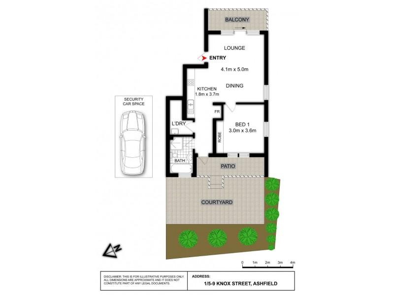 1/5 Knox Street, Ashfield NSW 2131 Floorplan