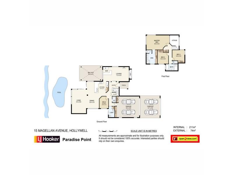 15 Magellan Avenue, Hollywell QLD 4216 Floorplan