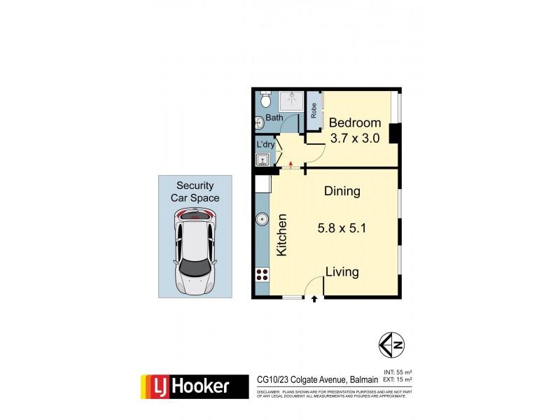 CG10/23 Colgate Avenue, Balmain NSW 2041 Floorplan
