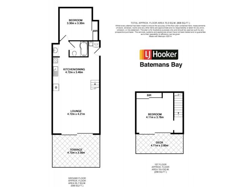210/202 Beach Road, Batehaven NSW 2536 Floorplan
