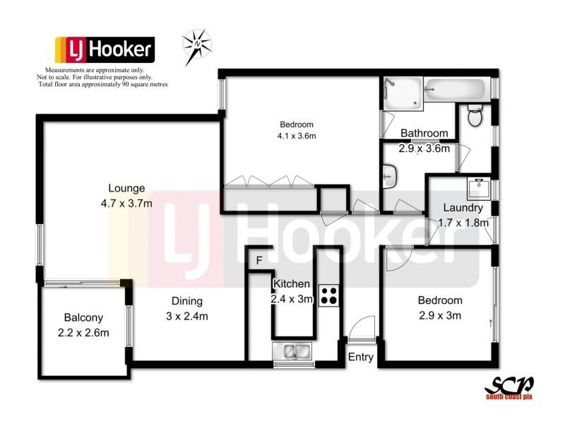 4/2 Sheila Street, Batehaven NSW 2536 Floorplan