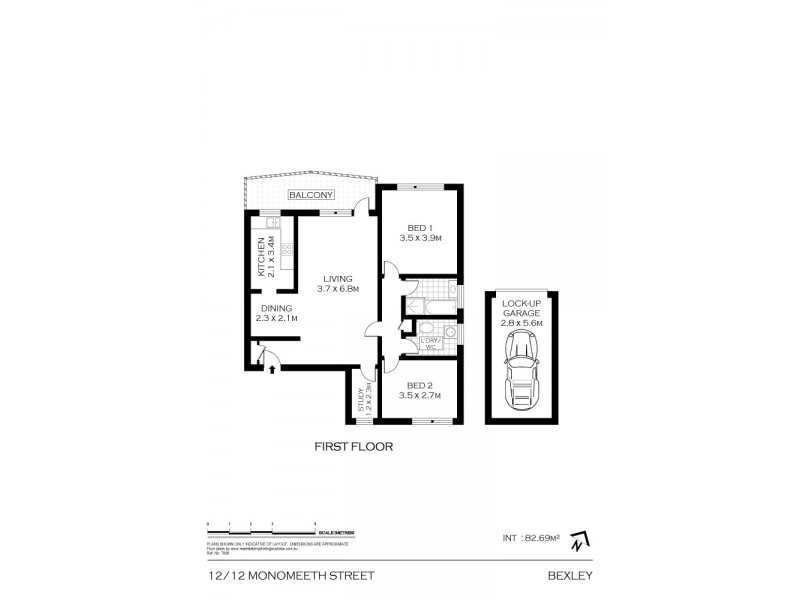 12/12 Monomeeth Street, Bexley NSW 2207 Floorplan