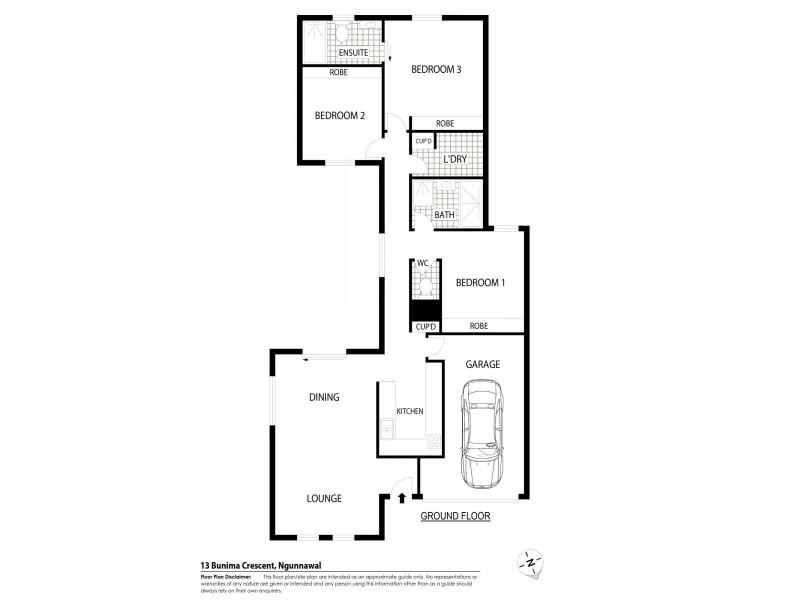 13 Bunima Crescent, Ngunnawal ACT 2913 Floorplan