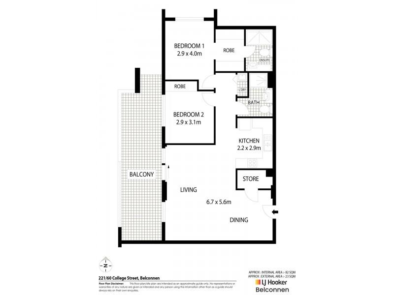 221/60 College Street, Belconnen ACT 2617 Floorplan