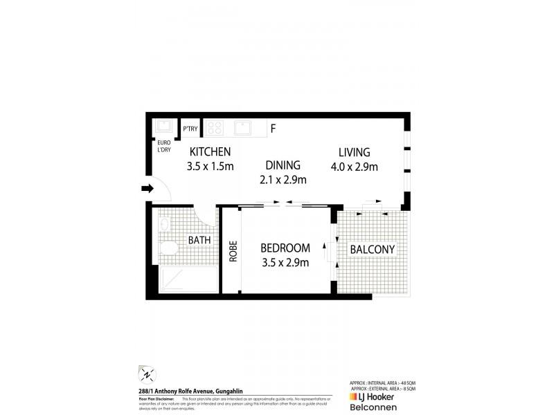 288/1 Anthony Rolfe Avenue, Gungahlin ACT 2912 Floorplan