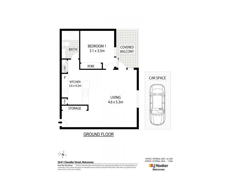 26/41 Chandler Street, Belconnen ACT 2617 Floorplan