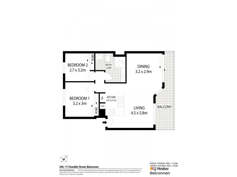 24A/17 Chandler Street, Belconnen ACT 2617 Floorplan