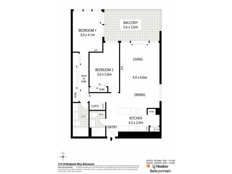 215/39 Benjamin Way, Belconnen ACT 2617 Floorplan
