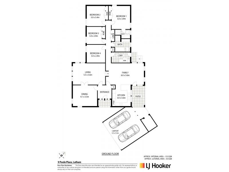 9 Poole Place, Latham ACT 2615 Floorplan