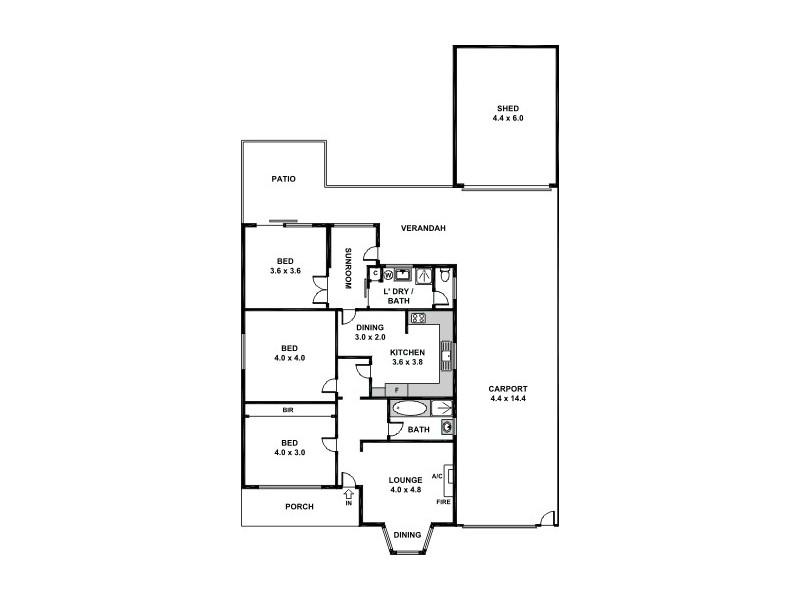8 Whimpress Ave, Findon SA 5023 Floorplan