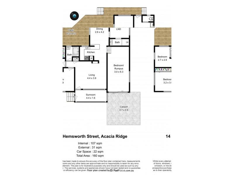 14 Hemsworth Street, Acacia Ridge QLD 4110 Floorplan