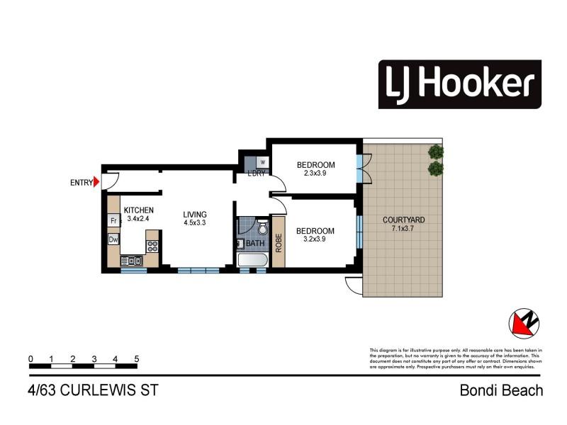 4/63 Curlewis Street, Bondi Beach NSW 2026 Floorplan