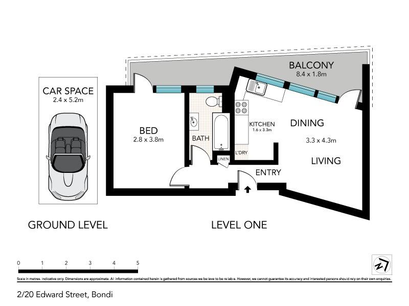 2/20 Edward Street, Bondi NSW 2026 Floorplan