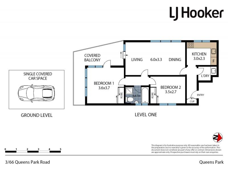 3/66 Queens Park Road, Queens Park NSW 2022 Floorplan