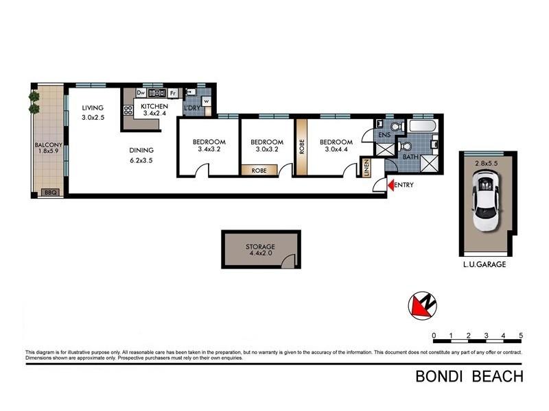 2/22-24 Francis Street, Bondi Beach NSW 2026 Floorplan