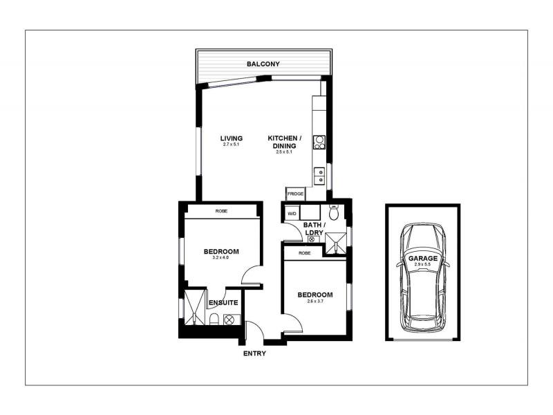 2/36 Bennett Street, Bondi NSW 2026 Floorplan