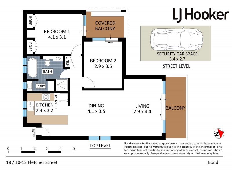 18/10-12 Fletcher Street, Bondi NSW 2026 Floorplan