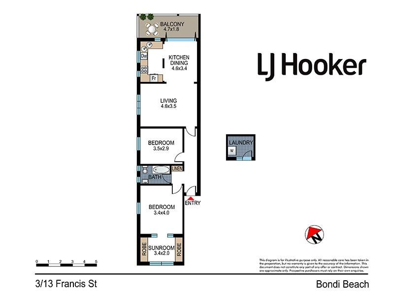 3/13 Francis Street, Bondi Beach NSW 2026 Floorplan