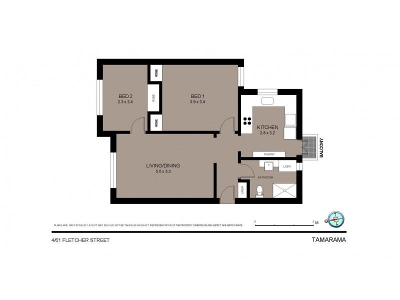 4/61 Fletcher Street, Tamarama NSW 2026 Floorplan