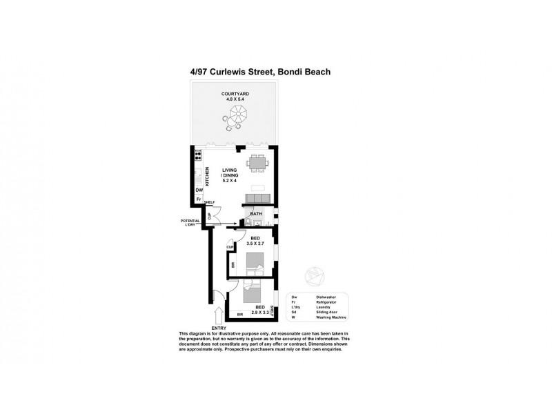 4/97 Curlewis Street, Bondi Beach NSW 2026 Floorplan
