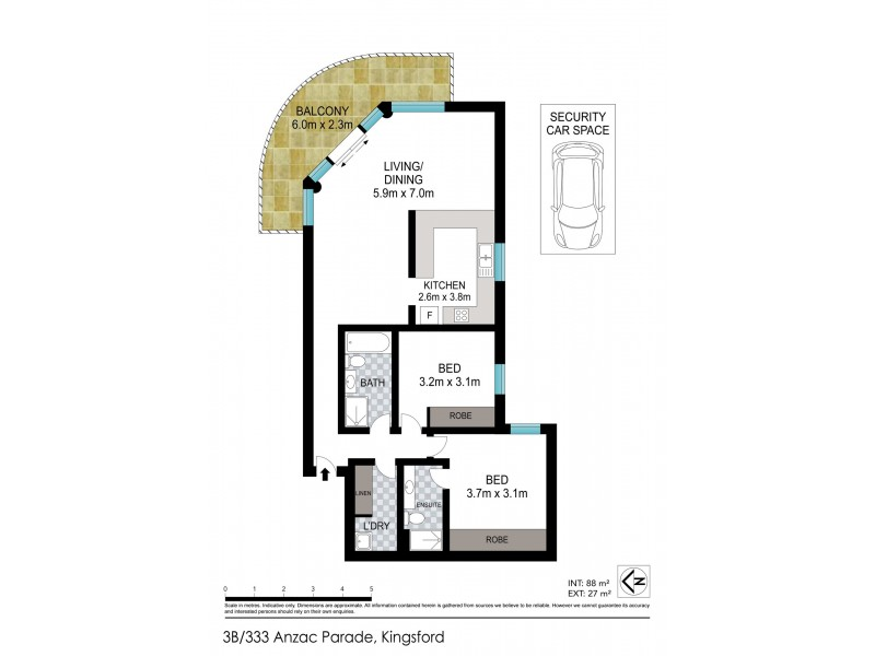 3B/333 Anzac Parade, Kingsford NSW 2032 Floorplan