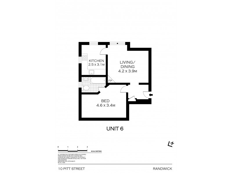 6/10 Pitt Street, Randwick NSW 2031 Floorplan