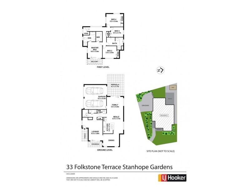 33 Folkestone Terrace, Stanhope Gardens NSW 2768 Floorplan