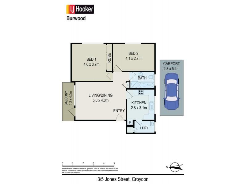 3/5 Jones Street, Croydon NSW 2132 Floorplan