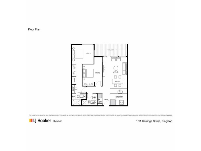 13/1 Kerridge Street, Kingston ACT 2604 Floorplan
