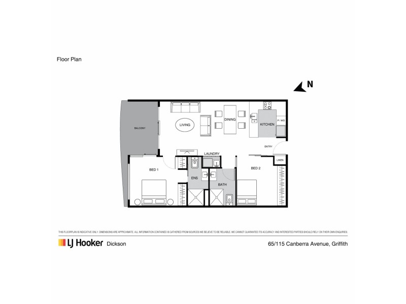 65/115 Canberra Avenue, Griffith ACT 2603 Floorplan