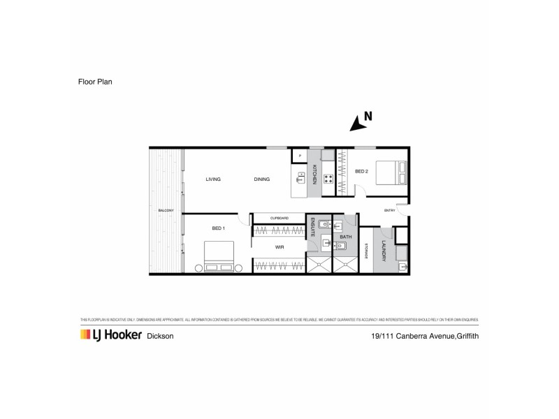 19/111 Canberra Avenue, Griffith ACT 2603 Floorplan