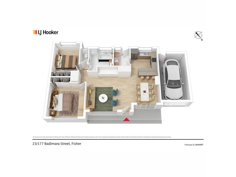 23/177 Badimara Street, Fisher ACT 2611 Floorplan