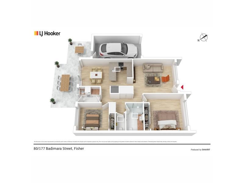 80/177 Badimara Street, Fisher ACT 2611 Floorplan