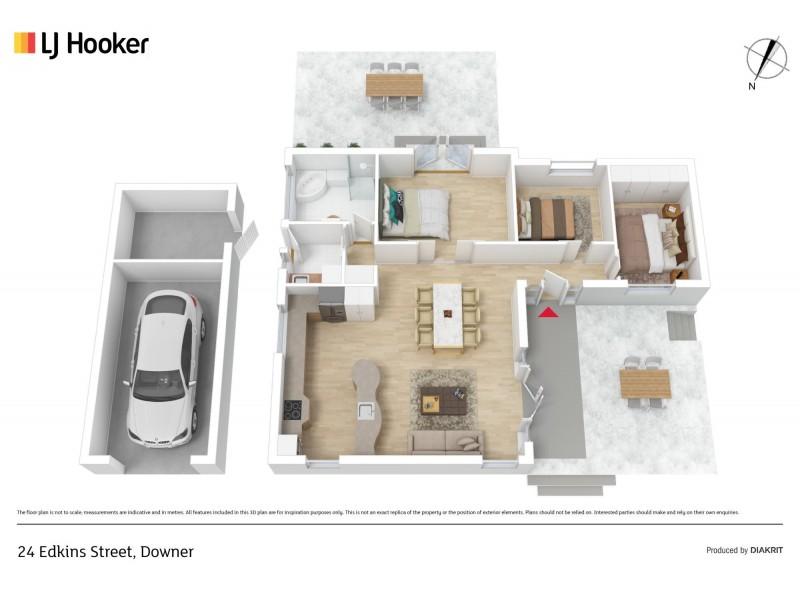 24 Edkins Street, Downer ACT 2602 Floorplan