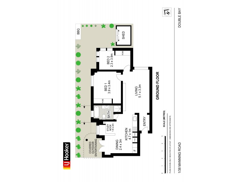 1/38 Manning Road, Double Bay NSW 2028 Floorplan