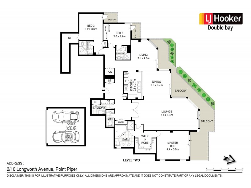 2/10 Longworth Avenue, Point Piper NSW 2027 Floorplan