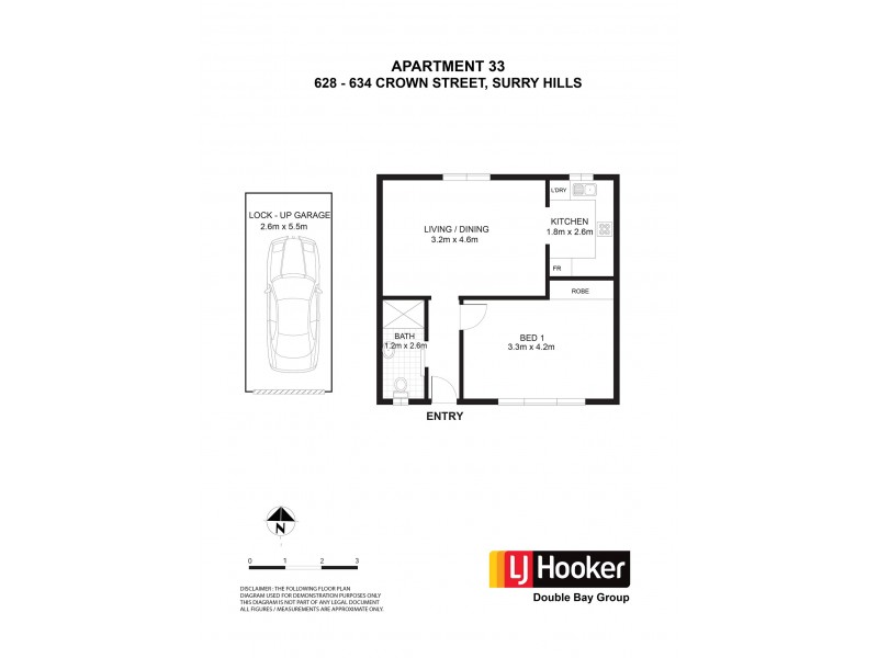 33/628-634 Crown Street, Surry Hills NSW 2010 Floorplan