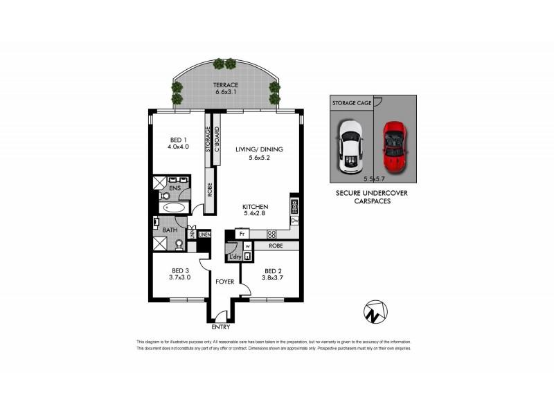 402/58-62 New South Head Road, Vaucluse NSW 2030 Floorplan