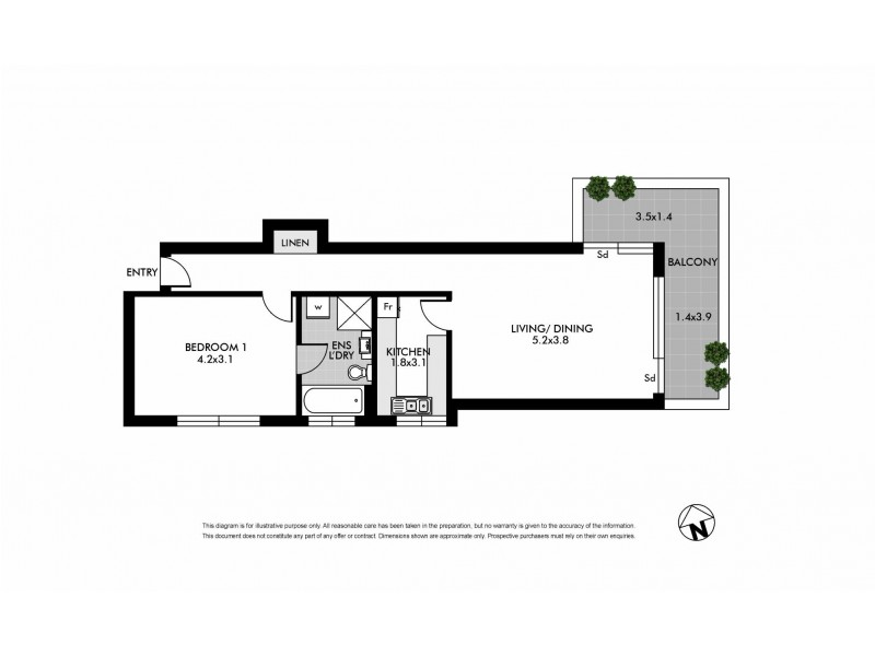 4C/15-19 Waverley Crescent, Bondi Junction NSW 2022 Floorplan