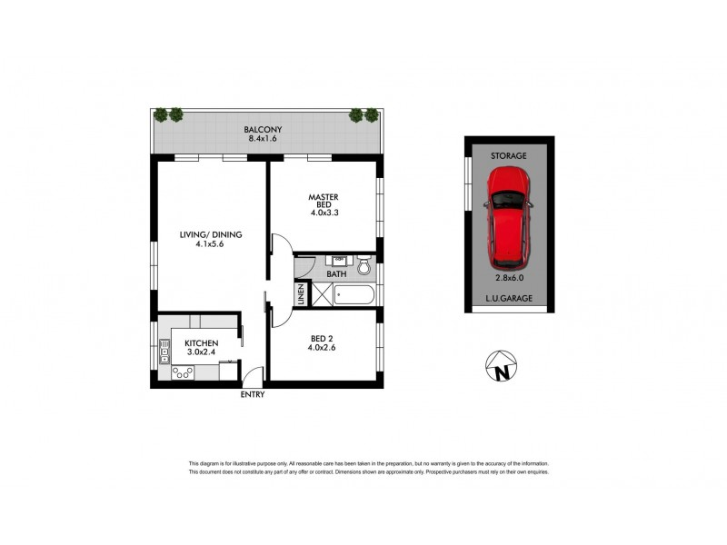 1/13 Onslow Street, Rose Bay NSW 2029 Floorplan