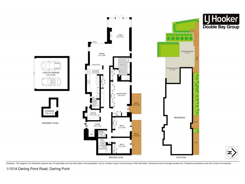 1/101a Darling Point Road, Darling Point NSW 2027 Floorplan