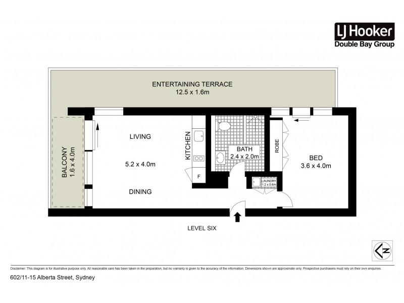 602/11-15 Alberta Street, Sydney NSW 2000 Floorplan