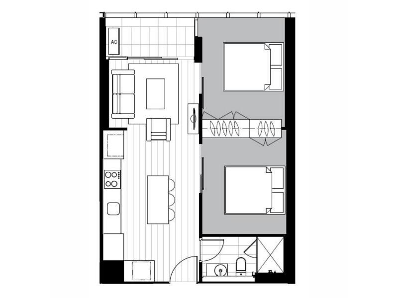 4908/33 Rose Lane, Melbourne VIC 3000 Floorplan