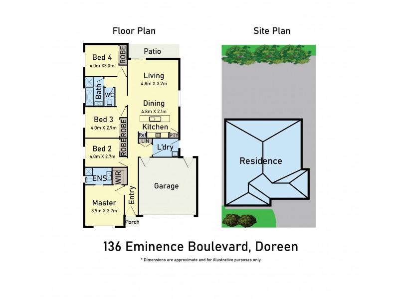 136 Eminence Boulevard, Doreen VIC 3754 Floorplan